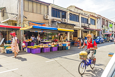 Campbell Street Market within George Town, UNESCO World Heritage Site, Penang Island, Malaysia, Southeast Asia, Asia