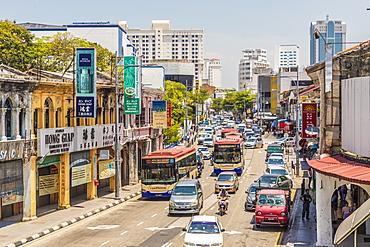 A street scene in George Town, Penang Island, Malaysia, Southeast Asia, Asia