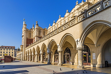 Cloth Hall in the main square, Rynek Glowny, in the medieval old town, UNESCO World Heritage Site, Krakow, Poland, Europe