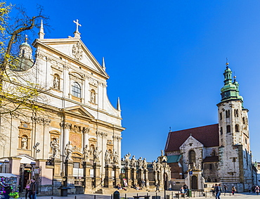 The Church of Saint Peter and Saint Paul in the medieval old town, UNESCO World Heritage Site, in Krakow, Poland, Europe
