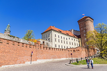 Wawel Royal Castle, UNESCO World Heritage Site, in the medieval old town, in Krakow, Poland, Europe