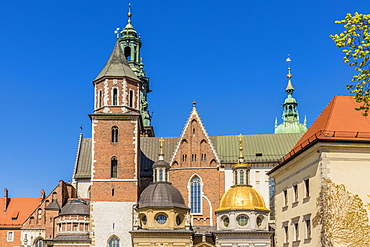 Wawel Cathedral at Wawel Royal Castle, UNESCO World Heritage Site, in the medieval old town, in Krakow, Poland, Europe
