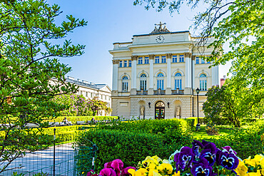 The University of Warsaw in the old town, a UNESCO World Heritage site in Warsaw, Poland, Europe.