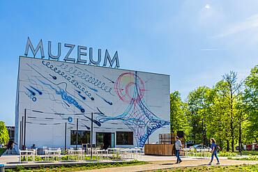 The Museum of Modern Art in Warsaw, Poland, Europe.