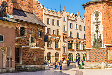 St Marys Square in the medieval old town, a UNESCO World site, in Krakow, Poland, Europe