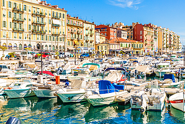 Port Lympia, Nice, Alpes Maritimes, Cote d'Azur, Provence, French Riviera, France, Mediterranean, Europe