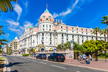 The famous Negresco Hotel in Nice, Alpes Maritimes, Cote d'Azur, French Riviera, Provence, France, Mediterranean, Europe