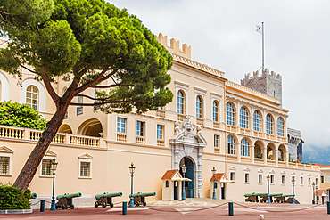 Prince's Palace of Monaco in Monaco, Cote d'Azur, French Riviera, Mediterranean, France, Europe