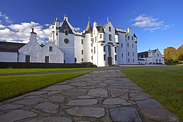 Blair Castle, ancestral home of Clan Murray, Blair Atholl, Perthshire, Scotland, United Kingdom, Europe