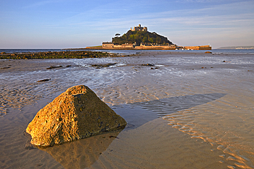 Early morning light over St. Michael's Mount, Marazion, Cornwall, England, United Kingdom, Europe