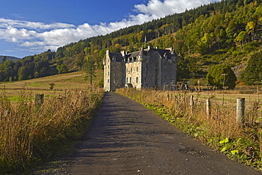 Castle Menzies, the ancestral seat of Clan Menzies, Weem, near Aberfeldy, Perthshire, Scotland, United Kingdom, Europe