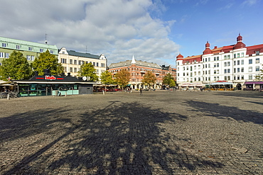 Mollevangstorget, market square in Mollevangen, Malmo, Skane county, Sweden, Europe
