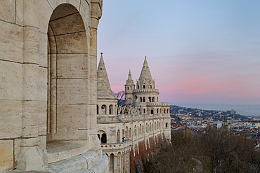 View from Fisherman's Bastion, Buda Castle Hill, Budapest, Hungary, Europe