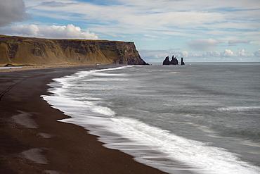 Reynisdrangar Sea Stacks, Reynisfjara, Vik, Iceland, Polar Regions