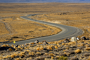 Sweeping road passing through a landscape, National Route 40, Patagonia, Argentina, South America