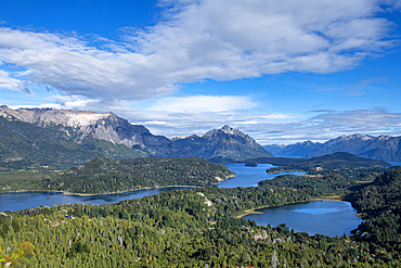 The view of Cerro Campanario, Bariloche, Patagonia, Argentina, South America