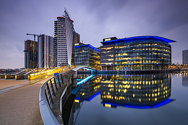 BBC building at MediaCity UK, Salford Quays, Manchester, England, United Kingdom, Europe