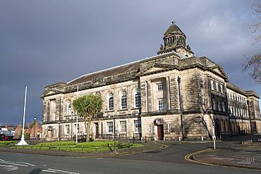 Wallasey Town Hall, Wirral Merseyside. River Mersey waterfront, Liverpool, Merseyside, England, United Kingdom, Europe
