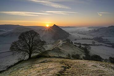 Sunrise at Chrome Hill in The Peak District, Derbyshire, England, United Kingdom, Europe