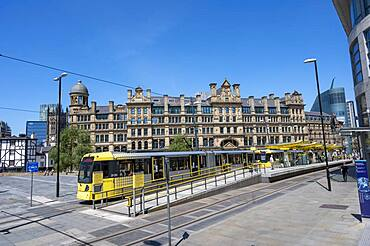Exchange Square with Metrolink train station, Manchester, England, United Kingdom, Europe