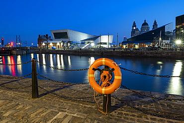 The Museum of Liverpool at night, Liverpool, Merseyside, England, United Kingdom, Europe