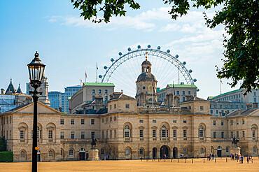 Horseguards Parade and The London Eye, London, England, United Kingdom, Europe