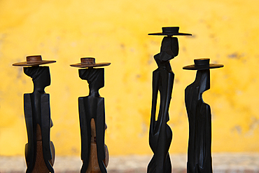 Figurines for sale at a market in Trinidad, Cuba, West Indies, Caribbean, Central America