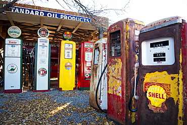 Gas station museum, Embudo, New Mexico, United States of America, North America
