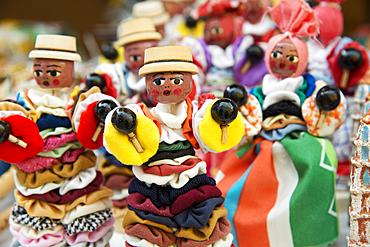 Cuban folk dolls at an outdoor market in Trinidad, Cuba, West Indies, Caribbean, Central America