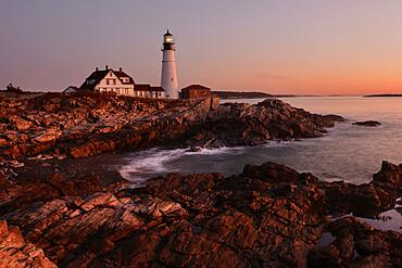 Portland Head Light, Cape Elizabeth, Maine, New England, United States of America, North America