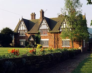 Typical Cheshire farmhouse, Beeston, Cheshire, England, United Kingdom, Europe