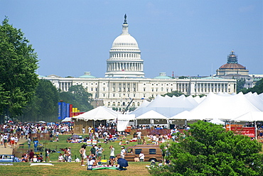 4th of July celebrations in front of the Capitol Building, Washington D.C., United States of America, North America