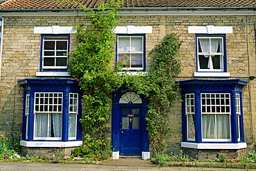The front of a house in Pickering, North Yorkshire, England, United Kingdom, Europe