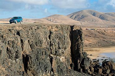 Four Wheel Driving, El Cotillo Beach, Fuerteventura, Canary Islands, Spain, Atlantic, Europe