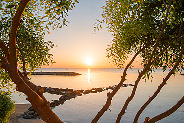 Sunrise at Kalamies Beach, Protaras, Cyprus, Mediterranean, Europe