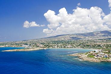Aerial view of Coral Bay, Paphos, Cyprus, Mediterranean, Europe