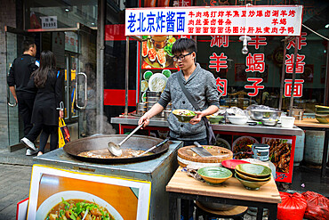 Street food in central Beijing, China, Asia
