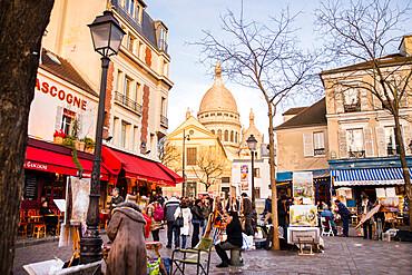 Place de Tertre, by the Sacre Coeur, Paris