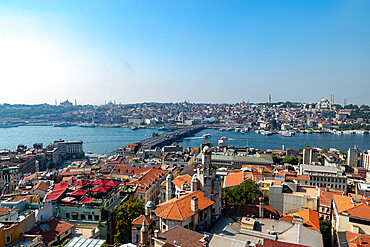 View of Istanbul from the Galata Tower, Istanbul, Turkey, Europe