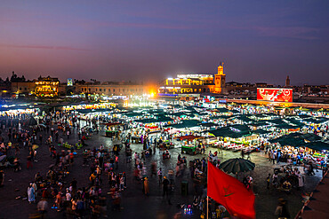Jemaa el-Fna Square at night, UNESCO World Heritage Site, Marrakech, Morocco, North Africa, Africa