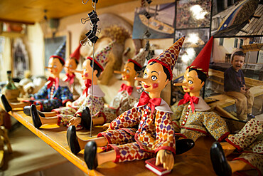 Marionettes in Venice, Veneto, Italy, Europe