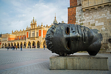 Cloth hall, Main square and town hall tower, Krakow, Poland