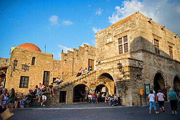 Ippokratous Square, Rhodes Town, Greece