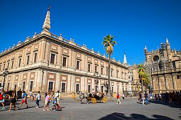 Plaza del Truinfo, Seville, Andalucia, Spain, Europe