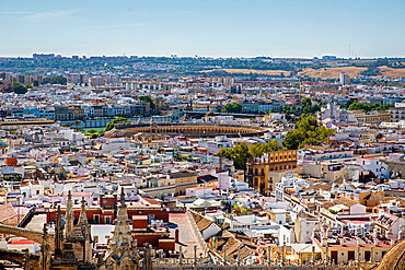 Skyline, Seville from Cathedral tower, Seville, Andalucia, Spain, Europe