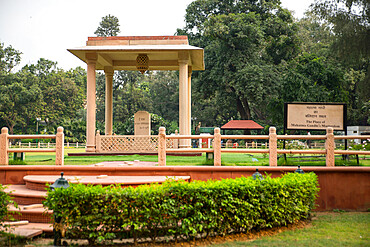 Gandhi Smriti, Memorial Museum to Mahatma Gandhi and site of assassination, New Delhi, India, Asia