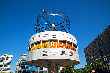 The Weltzeituhr, World time Clock in Berlin, Germany