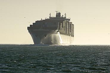 Cargo vessel, San Francisco Bay, California, United States of America