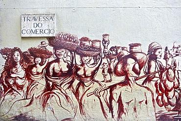 Wall mural in Travessa do Comercio in Rio de Janeiro, Brazil