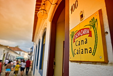 Local Cachacaria where local drink called Chachaza is sold, Paraty, Rio de Janeiro State, Brazil